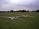 Quarter scale gliders waiting aerotow